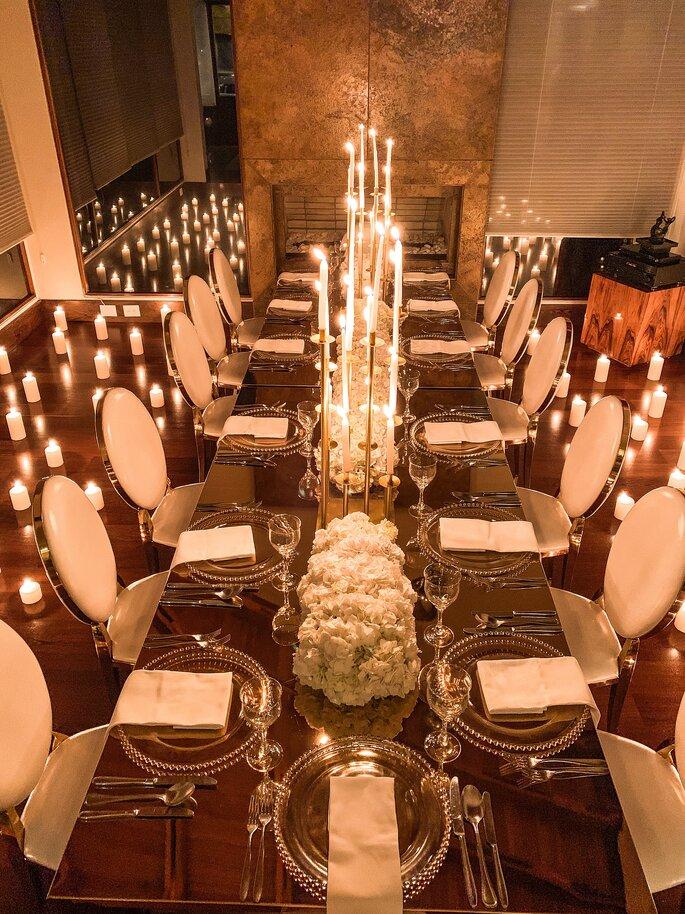 Vanessa Pérez Design decoración con mesa larga