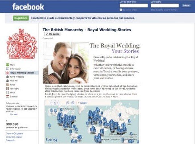 Primera boda real en las redes sociales