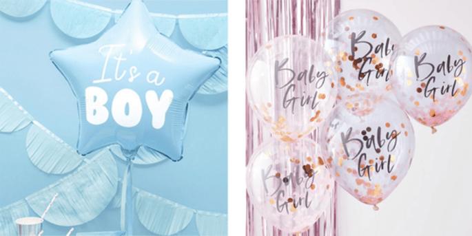 Ballon étoile It's a boy et Ballons baby girl 5 pièces