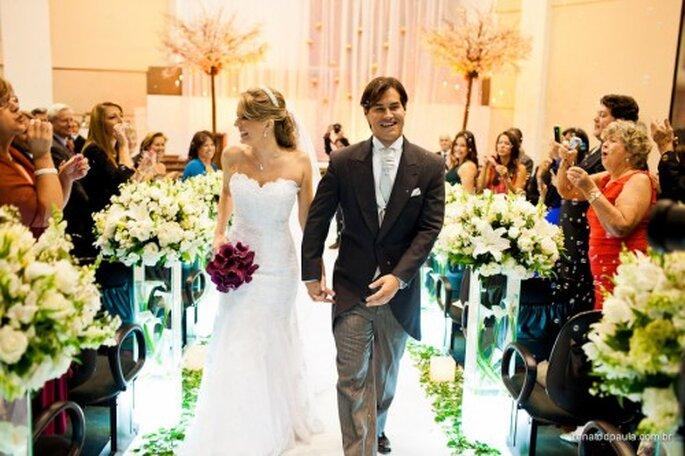 Decoración camino al altar de tu boda. Fotografía Renato dPaula