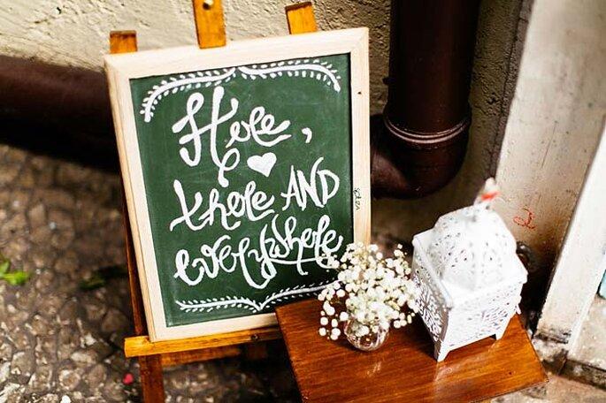 lousa decorativa para casamento