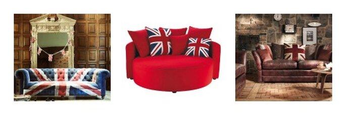 3 proposte molto british per il vostro sofa olimpico. Foto: barkerandstonehouse.co.uk e maisondumonde.com