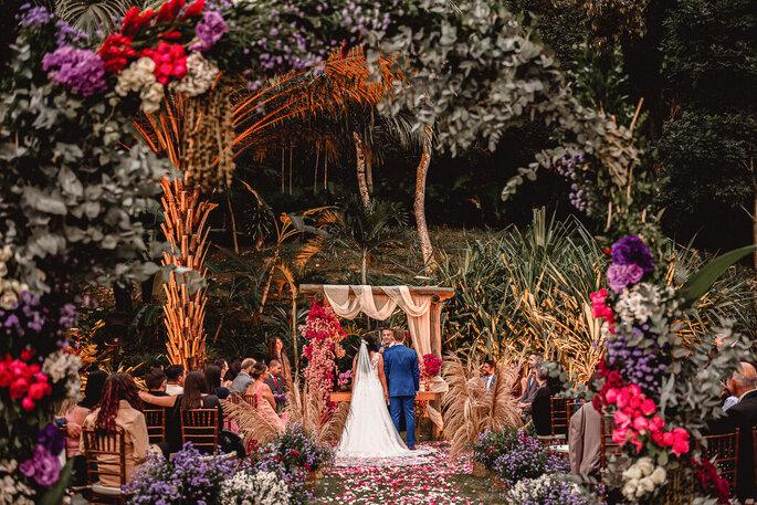 Linda imagem da decoração da cerimônia