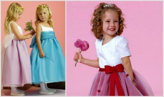 Los vestidos de colores dan un toque alegre para las pajecitas. Fotos: Orquideas Dresses