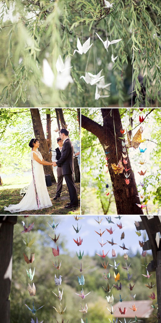 Paper decorations for your wedding - Photo: We Not Collective, Robert Sukrachand, Emily Takes Photos