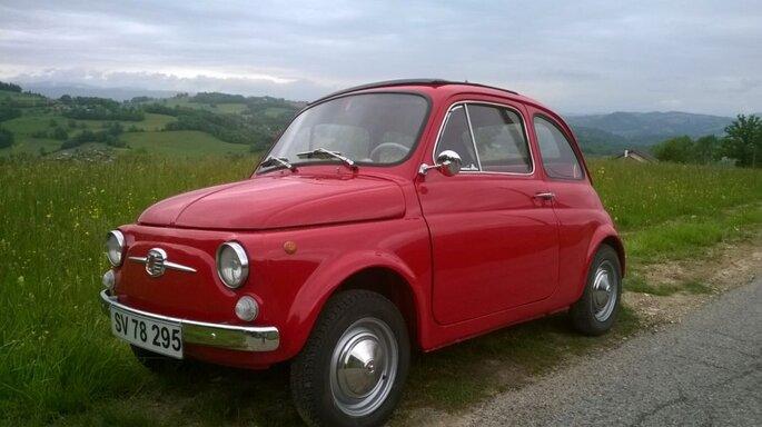 Photo : Fiat 500 Rosso Luiggi de 1967 - Virages classic