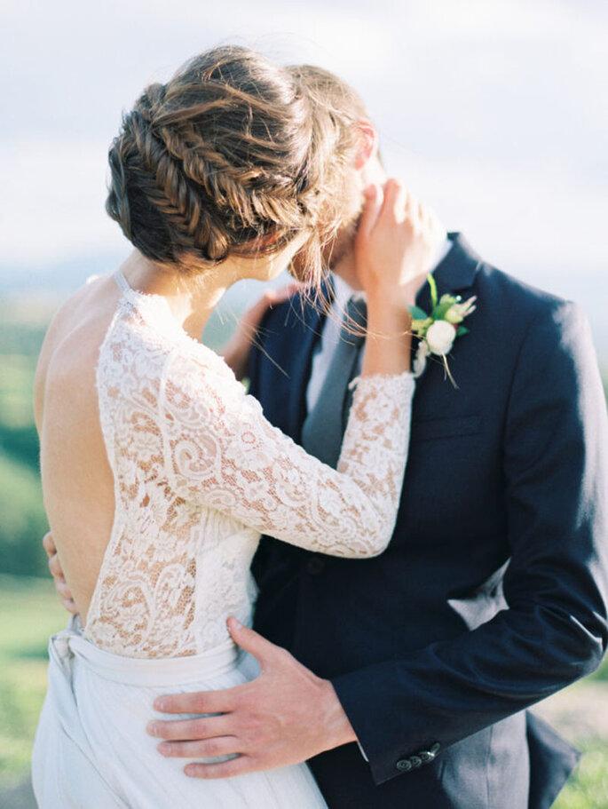 Acconciature sposa con treccia