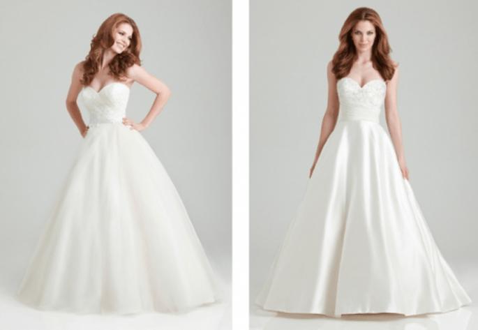 Románticos vestidos de novia corte princesa para una boda en primavera 2013 - Foto Allure Bridals