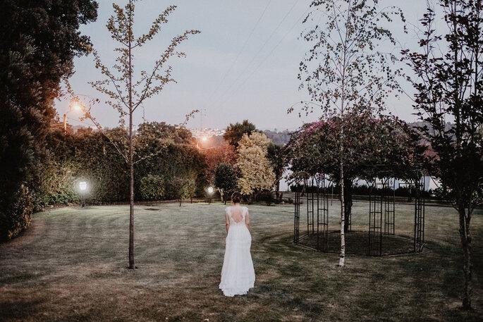 vestido noiva com decote nas costas