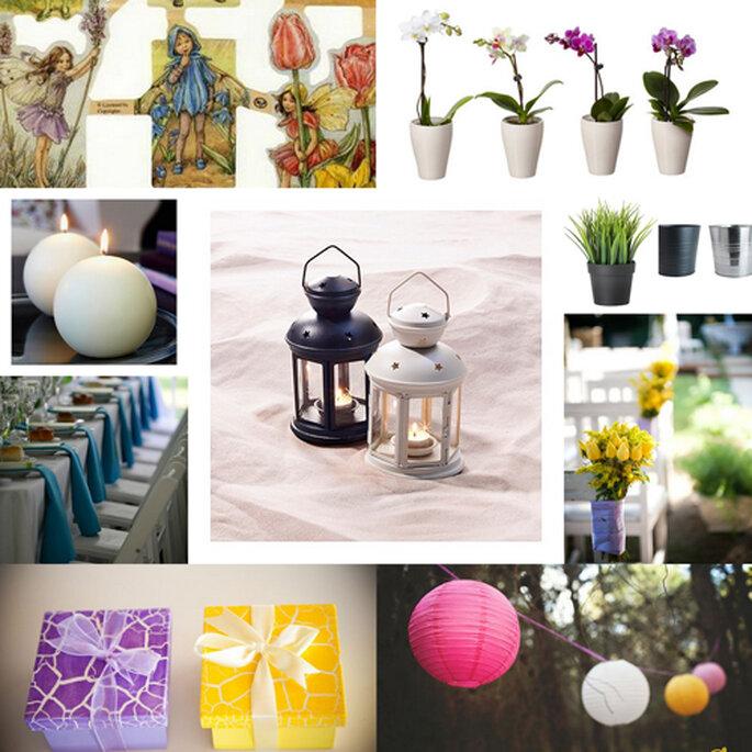 En las mesas, maceteros, velas, candelabros o lámparas puedes pegar tu cromo favorito. FOTOS: Fran Cabades y Attitude.