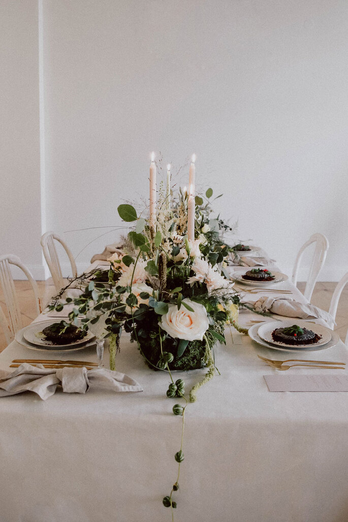 Minimony Tischdekoration Hochzeit Centerpiece