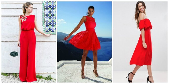 Photo à gauche : Combinaison David Christian / Photo au centre : Robe O'Scarlett / Photo à droite : Robe ASOS