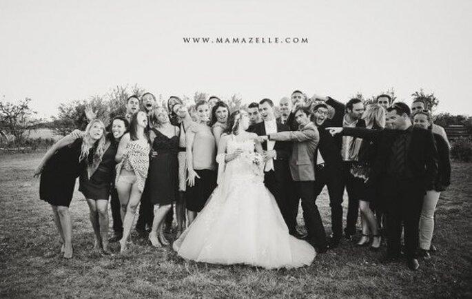 Foto di nozze in stile vintage. Foto di Mélissa Lenoir ©
