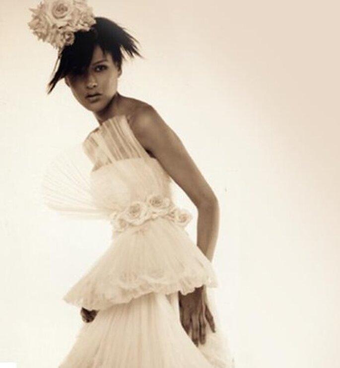 Tocados blancos como el vestido de novia
