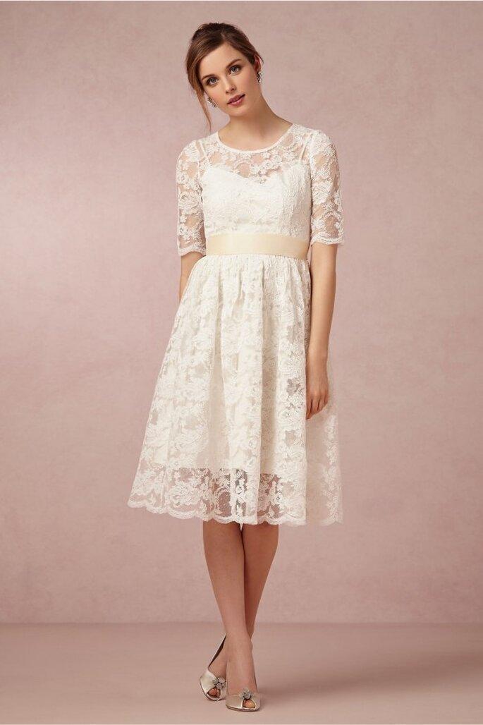 Vestidos de novia cortos que nos fascinan - Foto BHLDN