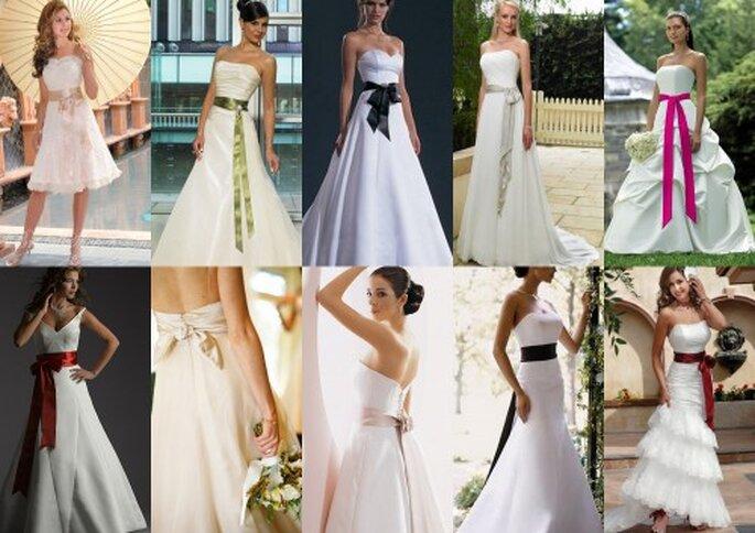 Colorful bridal sashes