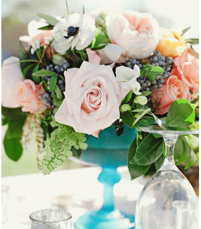 Los centros de mesa más elegantes para una boda en 2014 - Foto The Nichols