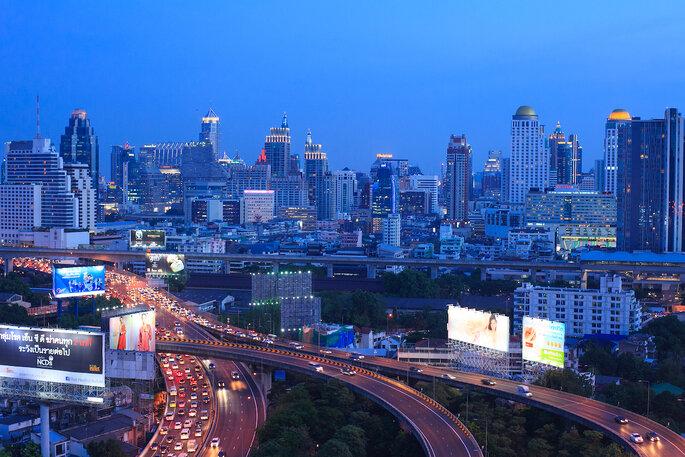 Aerial Photograph at Bangkok (Ratchaprarop Rd.), Bangkok