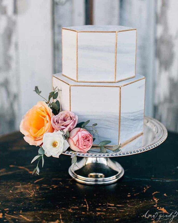 Marble cake para casamento