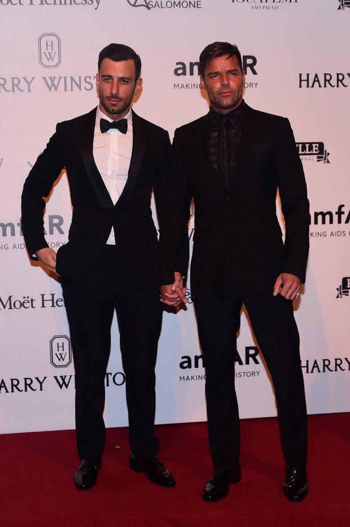 Ricky Martin y Jwan Yosef.