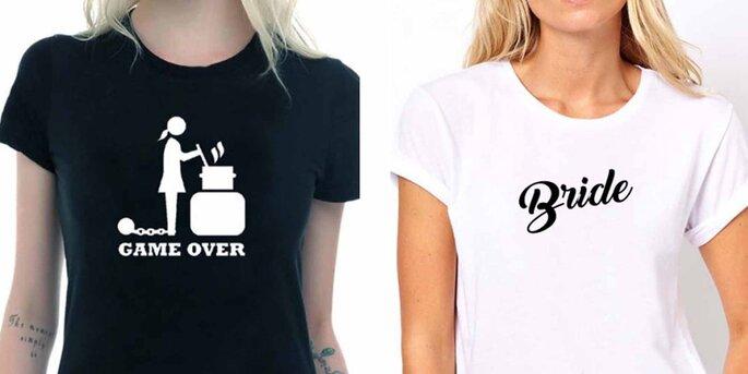 Camiseta negra GAME OVER mujer