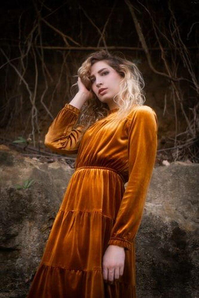 orangenes kleid