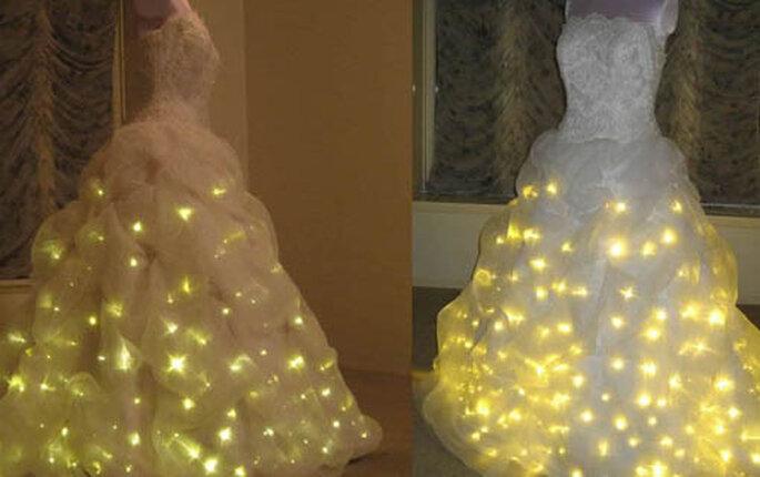 Robe de mariée illuminée