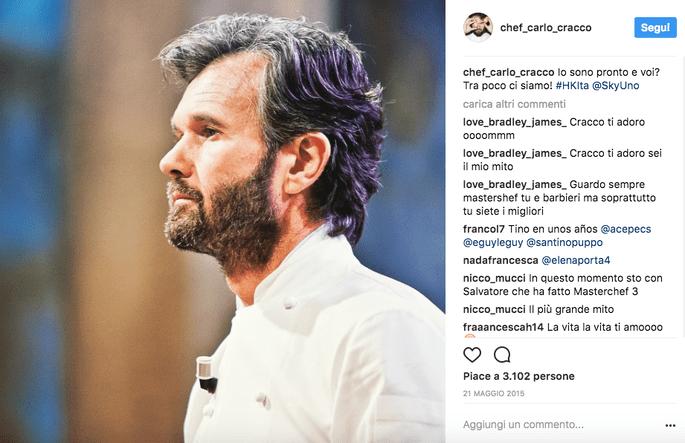 Foto via Instagram @chef_carlo_cracco