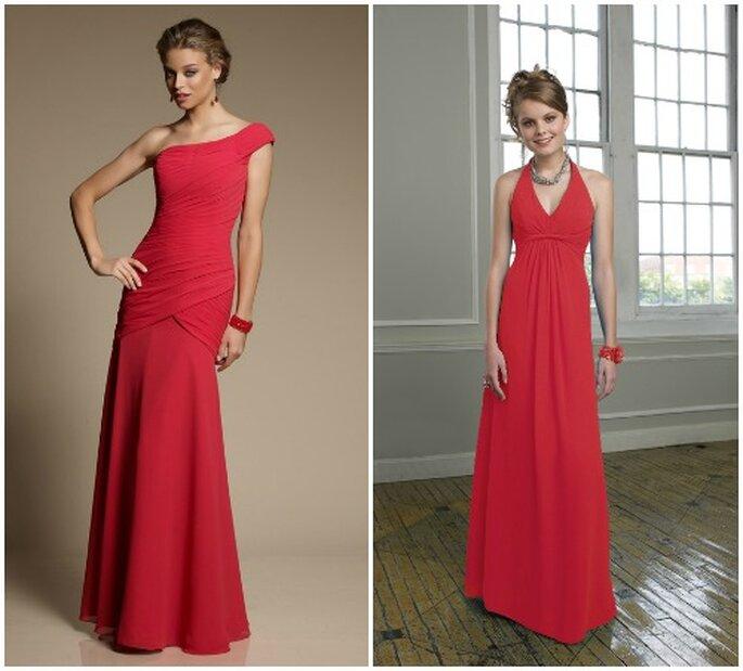 Per un ricevimento sotto Natale, scegli un abito rosso come questi! Mori Lee Bridesmaids 2013. Foto: www.morilee.com