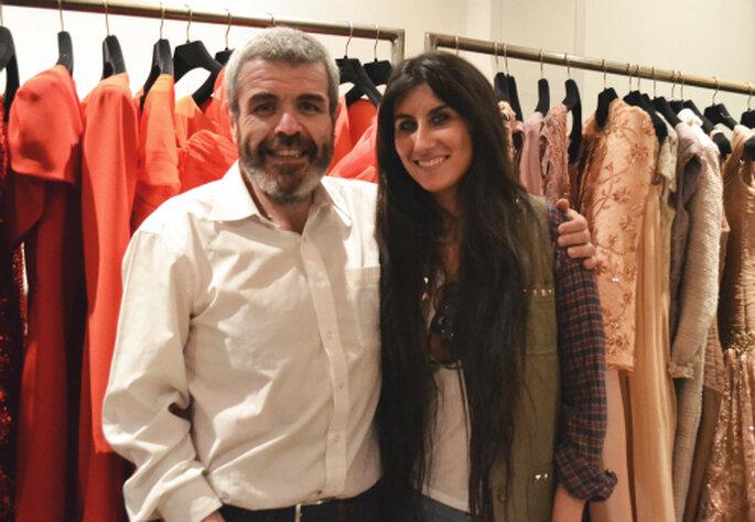 Con el diseñador Lorenzo Caprile.