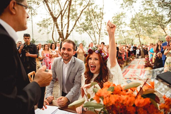 Noiva celebra a união