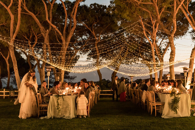 jantar de casamento ao ar livre