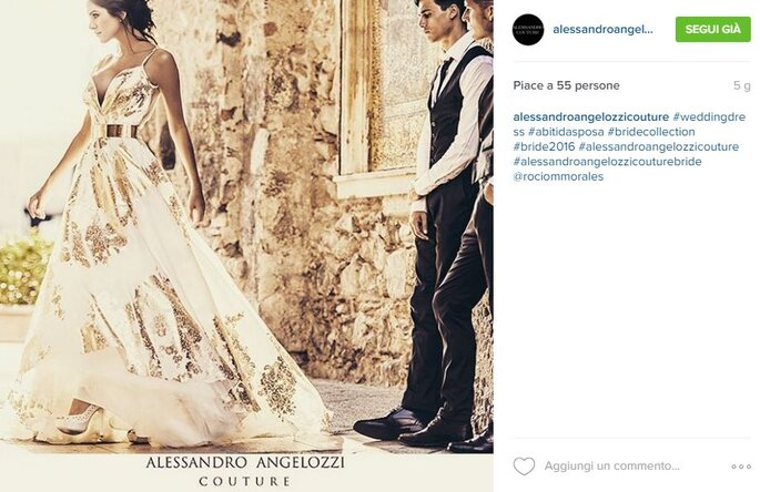 Foto via Instagram.com/alessandroangelozzicouture