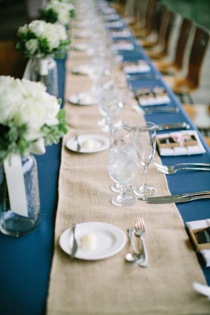 Caminos de mesa para la decoración de boda - Jacqui Cole