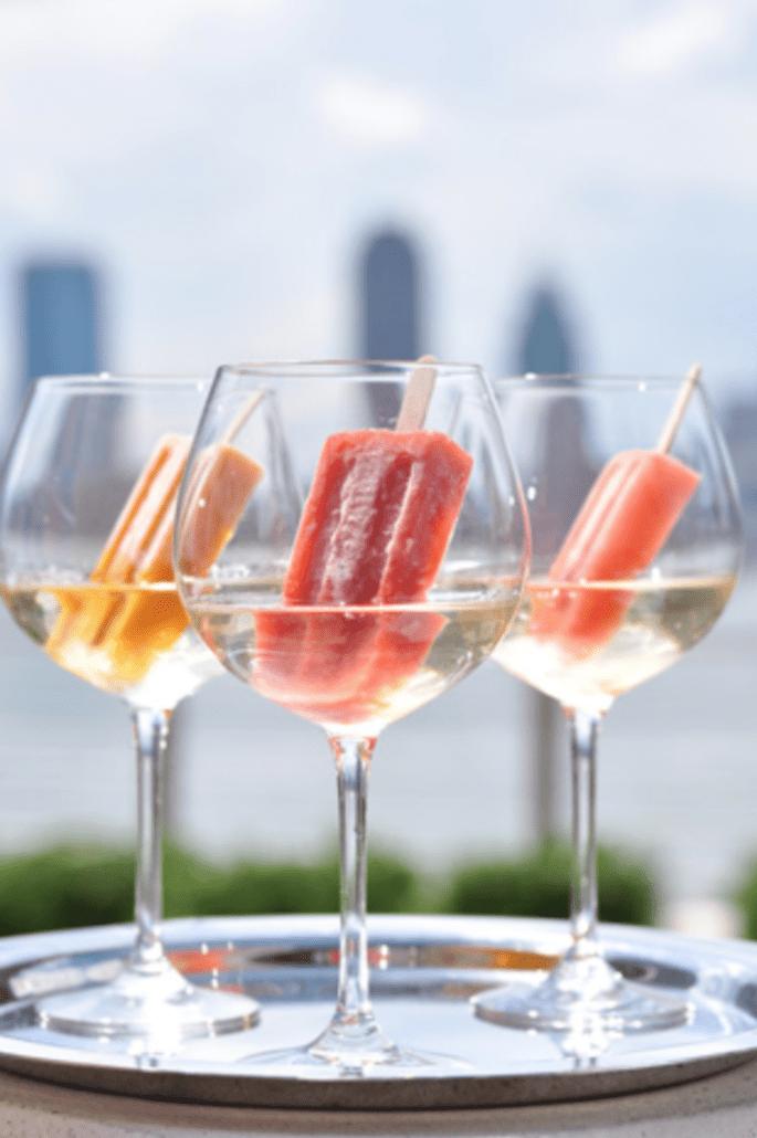 Paletas heladas con vino espumoso - Foto Conrad New York