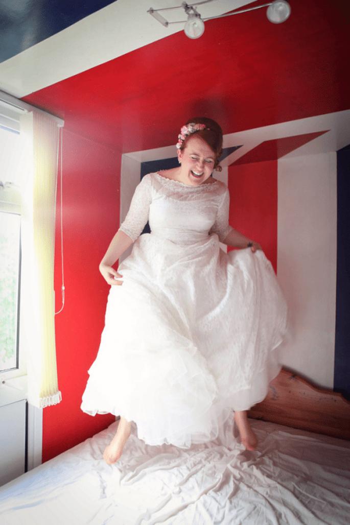 El vestido de Angela muy romántico y perfecto para sue stilo - Foto Haywood Jones Photography