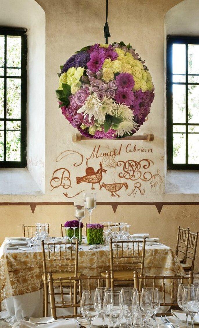 Decoración floral para bodas- Foto: Mar de Flores