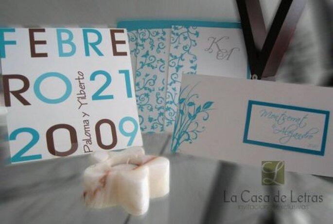 Diseño de calidad, personalización y todo lo que necesitas para tus invitaciones de boda - Foto La casa de las letras