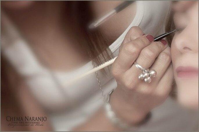 Maquillage des yeux de la mariée : un élément clé ! - Photo : Chema Naranjo