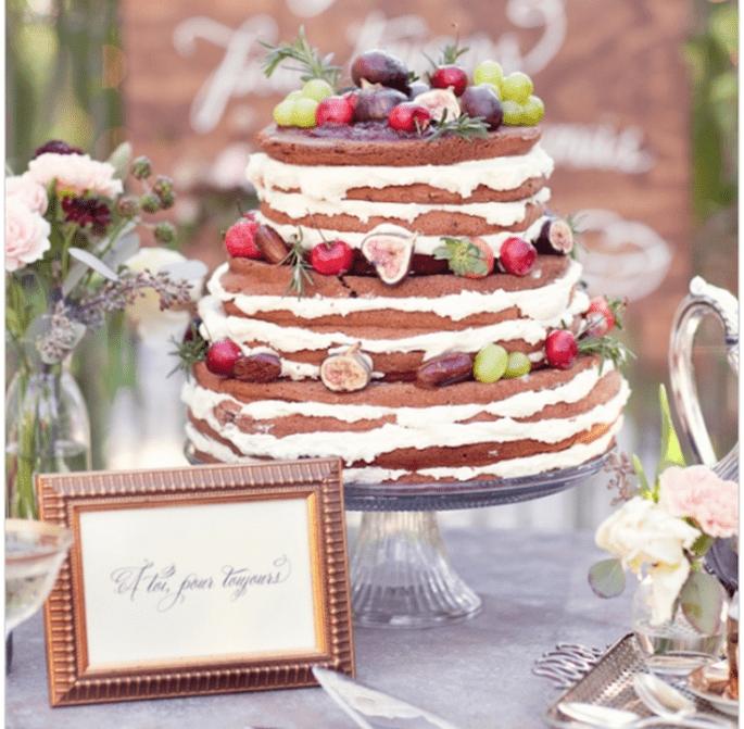 El naked cake, la tendencia más deliciosa en pasteles de boda - Foto Half Orange Photography