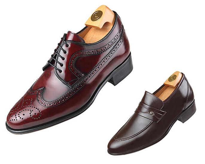 Zapatos con alzas para hombre, modelos tipo Oxford y mocasín. Foto: Hiplus