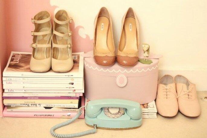 Chaussures de mariée de couleur nude