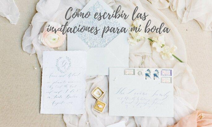 Cómo escribir las invitaciones de boda
