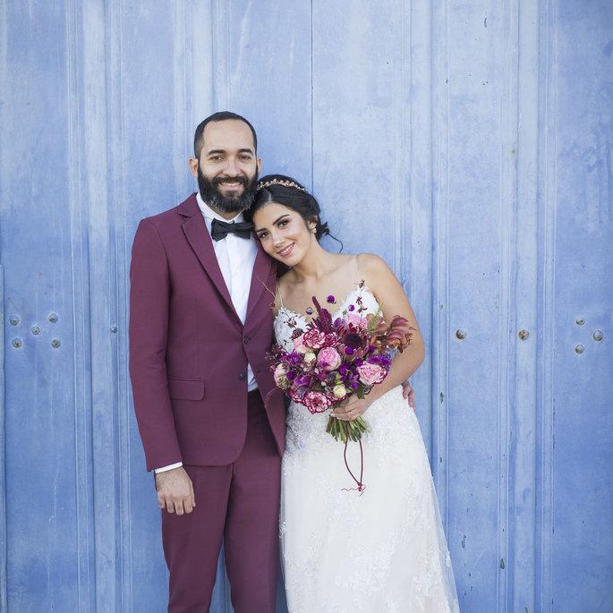 Como combinar meu vestido de noiva com o traje do noivo