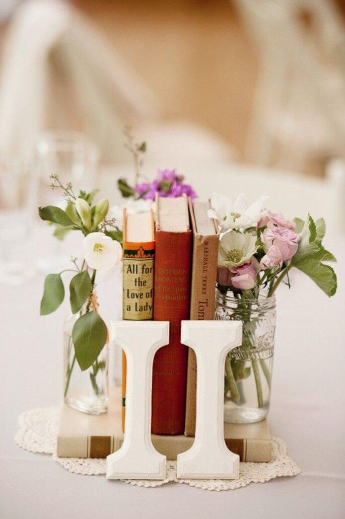 Un detalle muy especial para la decoraci n de tu boda los - Libros antiguos para decoracion ...