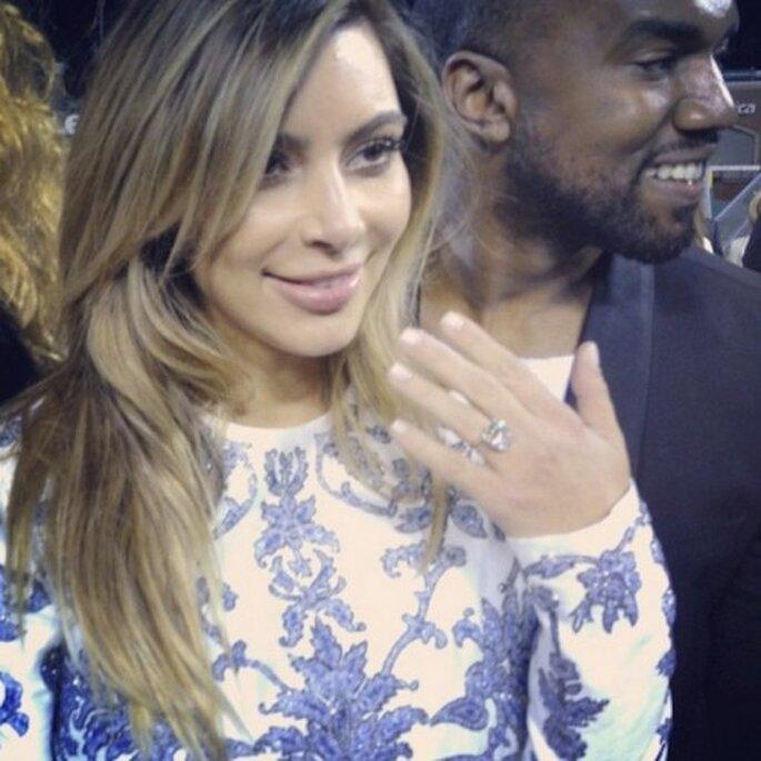 Kanye West y Kim Kardashian se comprometen - Foto Instagram