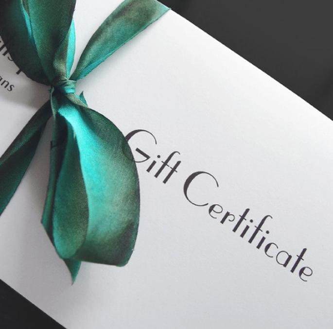 Certificados de regalo para el cortejo de boda - Foto Etsy