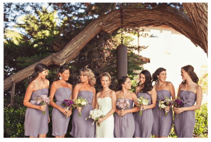 Vestidos para damas de boda en color lila - Foto Jackie Wonders