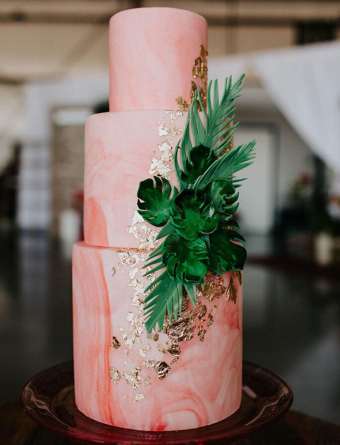 Hochzeitstorte modern in Aquarell stil