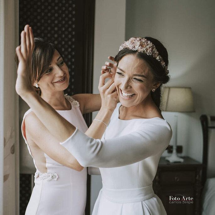 foto preparativos novia